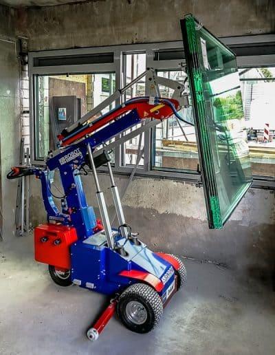Glasmontagegerät im Einsatz KS 350