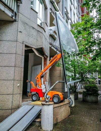 Glasmontagelift hebt Glasscheiben bis 600kg